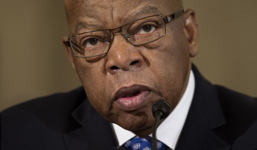 Rep. John Lewis, D-Ga. testifies on Capitol Hill in Washington, Wednesday, Jan. 11, 2017, at the second day of a confirmation hearing for Attorney General-designate, Sen. Jeff Sessions, R-Ala., before the Senate Judiciary Committee. (AP Photo/Cliff Owen)