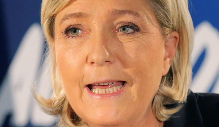 French conservative leader Marine Le Pen was an early supporter of Donald Trump and one of the first foreign politicians to congratulate him on his upset victory. (Associated Press)