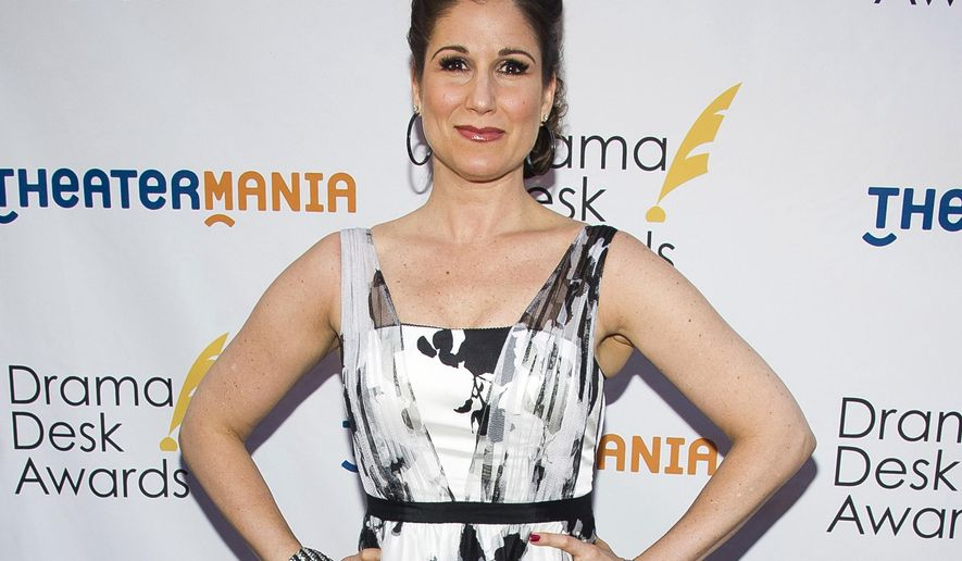 FILE - In this June 1, 2014 file photo, Stephanie J. Block attends the Drama Desk Awards in New York. Block, Mandy Gonzalez, Mario Cantone, Robert Creighton and Randy Graff will lend their voices to the fight against the lung-scarring disease pulmonary fibrosis. The seventh annual concert Broadway Belts for PFF! will be held on Feb. 27, 2017 at the Edison Ballroom in Manhattan. (Photo by Charles Sykes/Invision/AP, File)