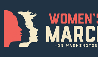 Women's March on Washington promotional image (Eventbrite).