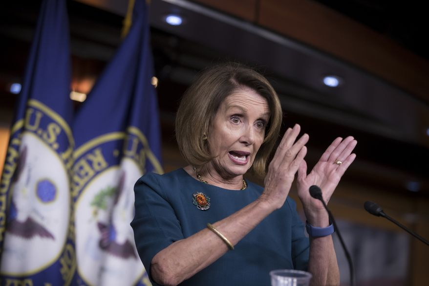 House Minority Leader Nancy Pelosi of Calif. responds to questions about Russian hacking and the Trump transition during a news conference on Capitol Hill in Washington, Friday, Jan. 13, 2017. (AP Photo/J. Scott Applewhite)