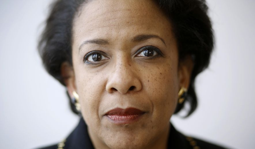 In this Jan. 12, 2017 photo, Attorney General Loretta Lynch poses for a portrait during an interview with The Associated Press at the University of Baltimore School of Law in Baltimore. (AP Photo/Patrick Semansky)