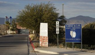 This Jan. 11, 2017 photo shows the Florence McClure Women's Correctional Center in Las Vegas. Advocates and academics say there is a widespread pattern throughout the U.S. of inmates facing challenges in getting treated for hepatitis C with effective but expensive drugs. (AP Photo/John Locher)