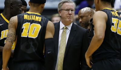 Iowa head coach Fran McCaffery reacts as he talks to his team during the first half of an NCAA college basketball game against Northwestern on Sunday, Jan. 15, 2017, in Evanston, Ill. (AP Photo/Nam Y. Huh)