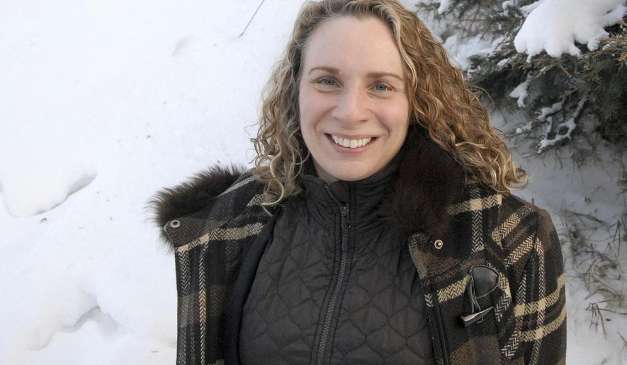 Alaska State Council on the Arts executive director Andrea Noble-Pelant poses for a photo in Eagle River, Alaska, on Saturday, Dec. 31, 2016. Noble-Pelant was named executive director of the state arts agency in December, 2016, after serving in that role on an interim basis since May.   (Matt Tunseth/Chugiak-Eagle River Star via AP)