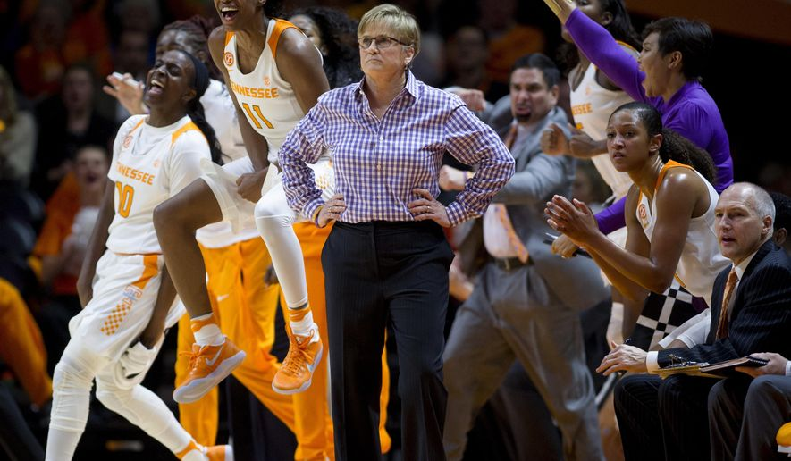 Tennessee head coach Holly Warlick watches a play during an NCAA college basketball game in Knoxville, Tenn., Monday, Jan. 16, 2017. (Saul Young/Knoxville News Sentinel via AP)