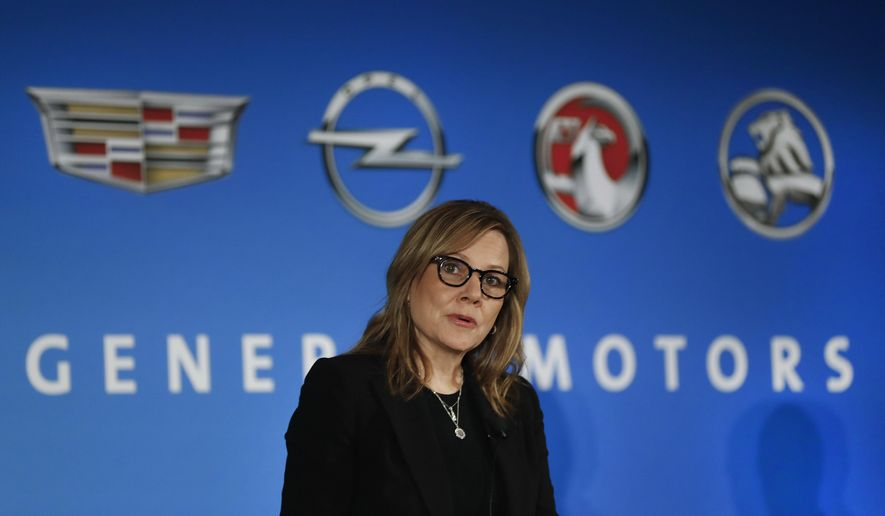 FILE- In this Jan. 10, 2017, file photo, General Motors Chairman and CEO Mary Barra speaks about the financial outlook of the automaker in Detroit. On Tuesday, Jan. 17, 2017, GM confirmed the company will make a $1 billion investment in its factories that will create or keep around 1,500 jobs. (AP Photo/Paul Sancya, File)