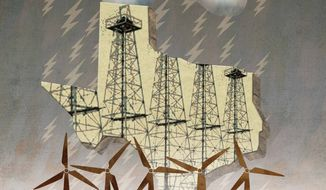 Texas Power Illustration by Greg Groesch/The Washington Times