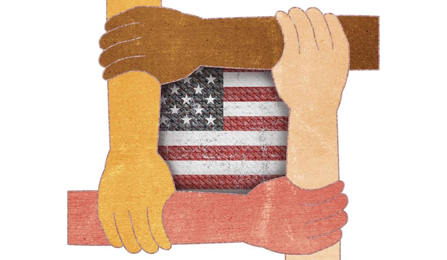 Angels Coming Together Illustration by Greg Groesch/The Washington Times