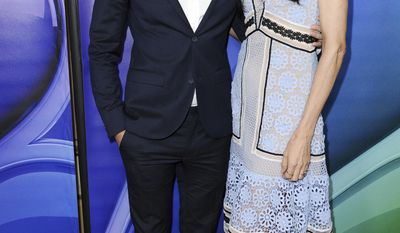 Ryan Eggold, left, and Famke Janssen attend the NBCUniversal portion of the 2017 Winter Television Critics Association press tour on Wednesday, Jan. 18, 2017, in Pasadena, Calif. (Photo by Richard Shotwell/Invision/AP)