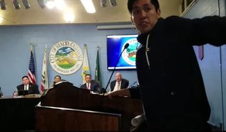 The American Civil Liberties Union of Southern California is distancing itself from comments made a community engagement and policy advocate, Luis Nolasco, who mocked elderly residents during a Rialto City Council meeting last week. (YouTube/@Arthur Christopher Schaper)
