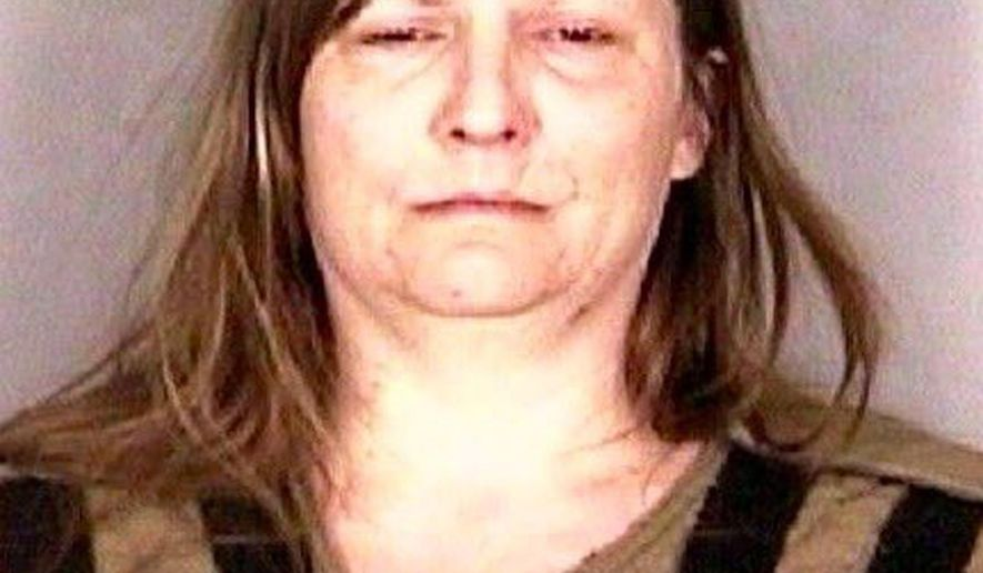 This undated photo provided by the Marion County Sheriff's office shows Amy Robertson, who was charged Tuesday, Jan. 17, 2017, in Salem, Ore., with aggravated murder in the killing her 12-year-old son. She was ordered to be jailed without bail. (Marion County Sheriff's Office via AP)