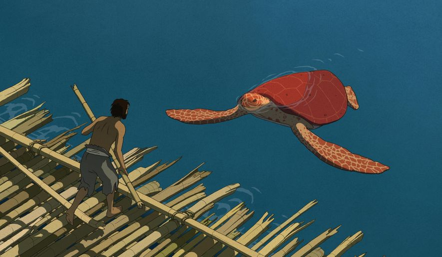 "This image released by Sony Pictures Classics shows a scene from the animated film, ""The Red Turtle."" (Sony Pictures Classics via AP)"
