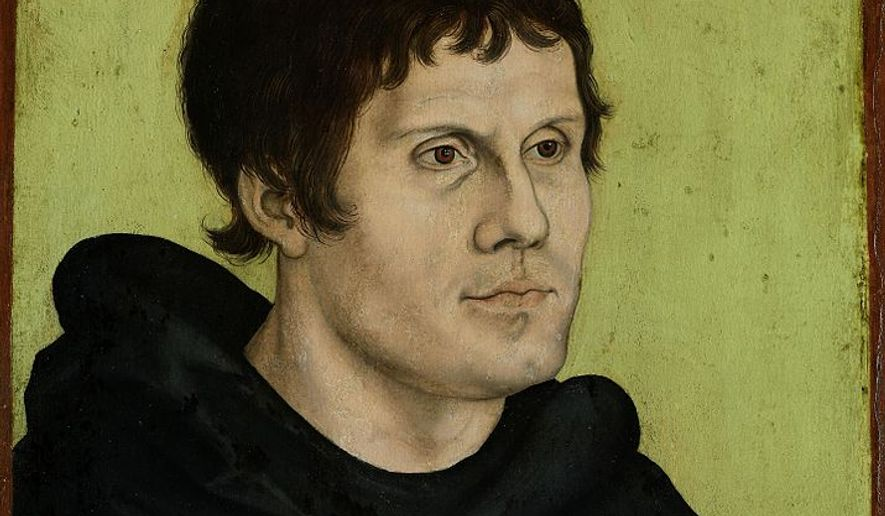 Posthumous Portrait of Martin Luther as an Augustine Monk by Lucas Cranach the Elder (public domain via Wikimedia Commons)