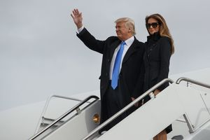 Donald Trump arrives in Washington ahead of historic inauguration