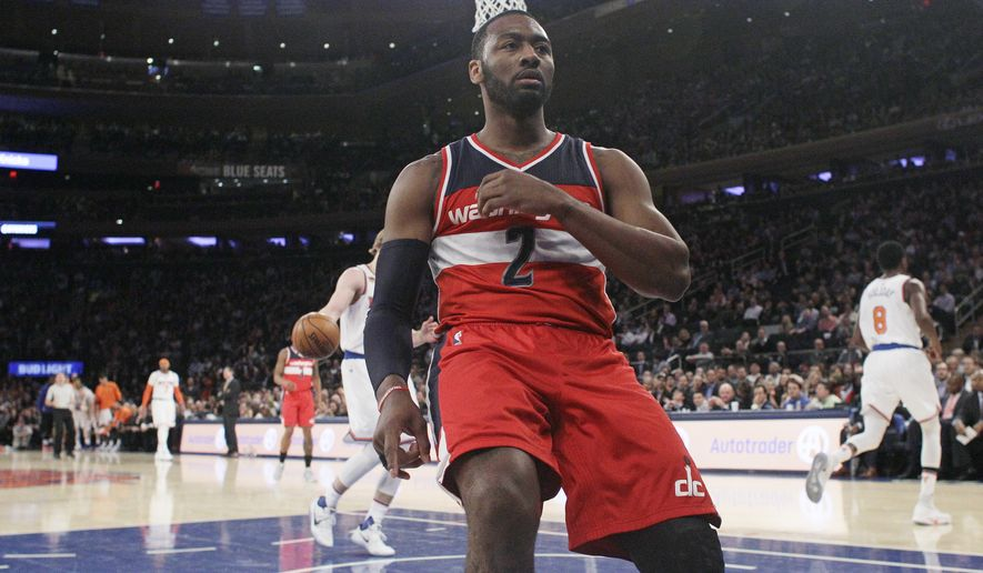 Washington Wizards39 John Wall 2 Reacts After A Dunk In Front