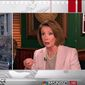 """Then-House Minority Leader Nancy Pelosi told the hosts of MSNBC's """"Morning Joe"""" on Friday, Jan. 20, 2017, that Democrats do """"the Lord's work"""" while Republicans """"dishonor the God who made them."""" (Twitter, Morning Joe) ** FILE **"""