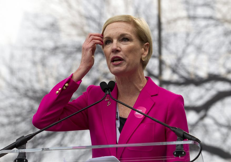 Planned Parenthood Federation of America President  Cecile Richards speaks to the crowd during a women's march rally in Washington on Jan. 21, 2017. (Associated Press) **FILE**