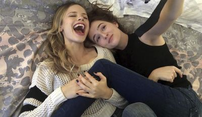 "This image released by the Sundance Institute shows Halston Sage, left, and Zoey Deutch in a scene from ""Before I Fall,"" a film by Ry Russo-Young. The film is an official selection of the Premieres program at the 2017 Sundance Film Festival. (Sundance Institute via AP)"