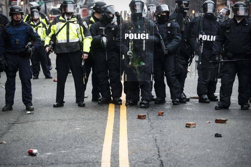 Protesters clashed with police and destroyed property on the day of President Trump's inauguration. (Associated Press/File)