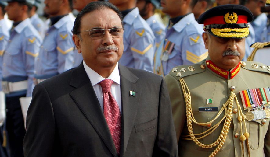 Former Pakistani President Asif Ali Zardari advises critics of President Trump to give his foreign policy a chance. (Associated Press)
