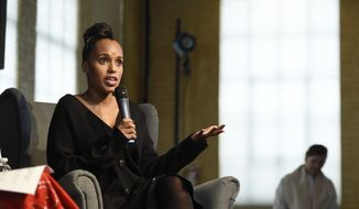 Actress Kerry Washington addresses the audience during a panel discussion at the Women at Sundance Brunch during the 2017 Sundance Film Festival on Monday, Jan. 23, 2017, in Park City, Utah. (Photo by Chris Pizzello/Invision/AP)