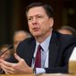 FBI Director James B. Comey testifies on Capitol Hill in Washington in this Jan. 10, 2017, file photo. Comey is staying in his job. A Justice Department memo lists him among officials remaining in their positions. (AP Photo/Cliff Owen, File)
