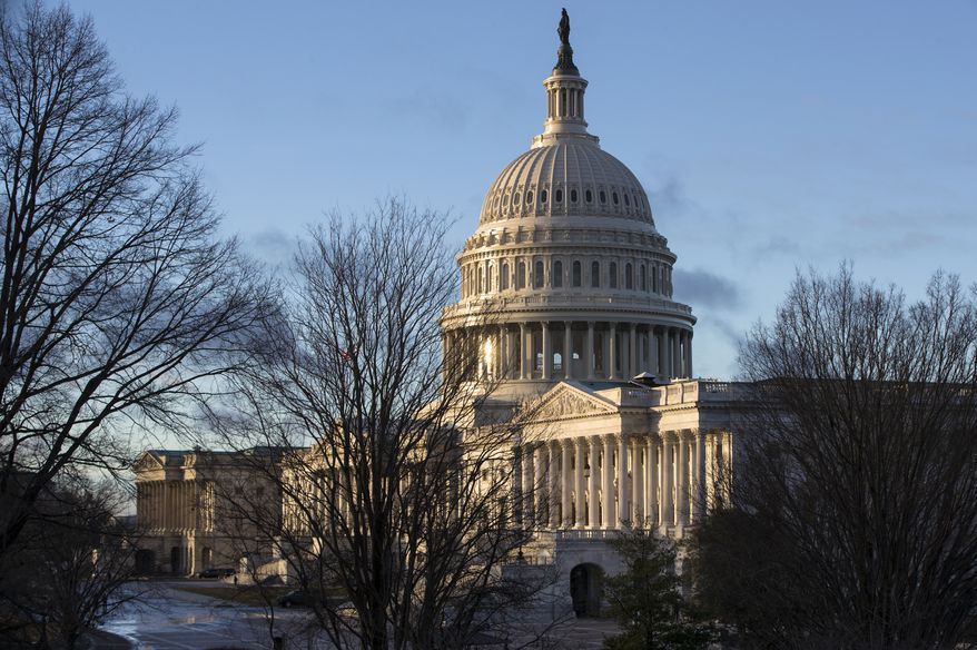 The U.S. Capitol in Washington is seen early Tuesday, Jan. 24, 2017, on the first full week for members of Congress to work with President Donald Trump. Mr. Trump is meeting with congressional leaders from both parties to discuss his agenda. (AP Photo/J. Scott Applewhite)