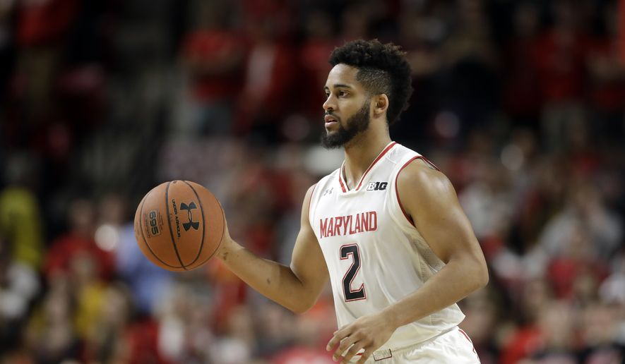 Maryland guard Melo Trimble drives the ball in the second half of an NCAA college basketball game against Rutgers, Tuesday, Jan. 24, 2017, in College Park, Md. (AP Photo/Patrick Semansky) **FILE**