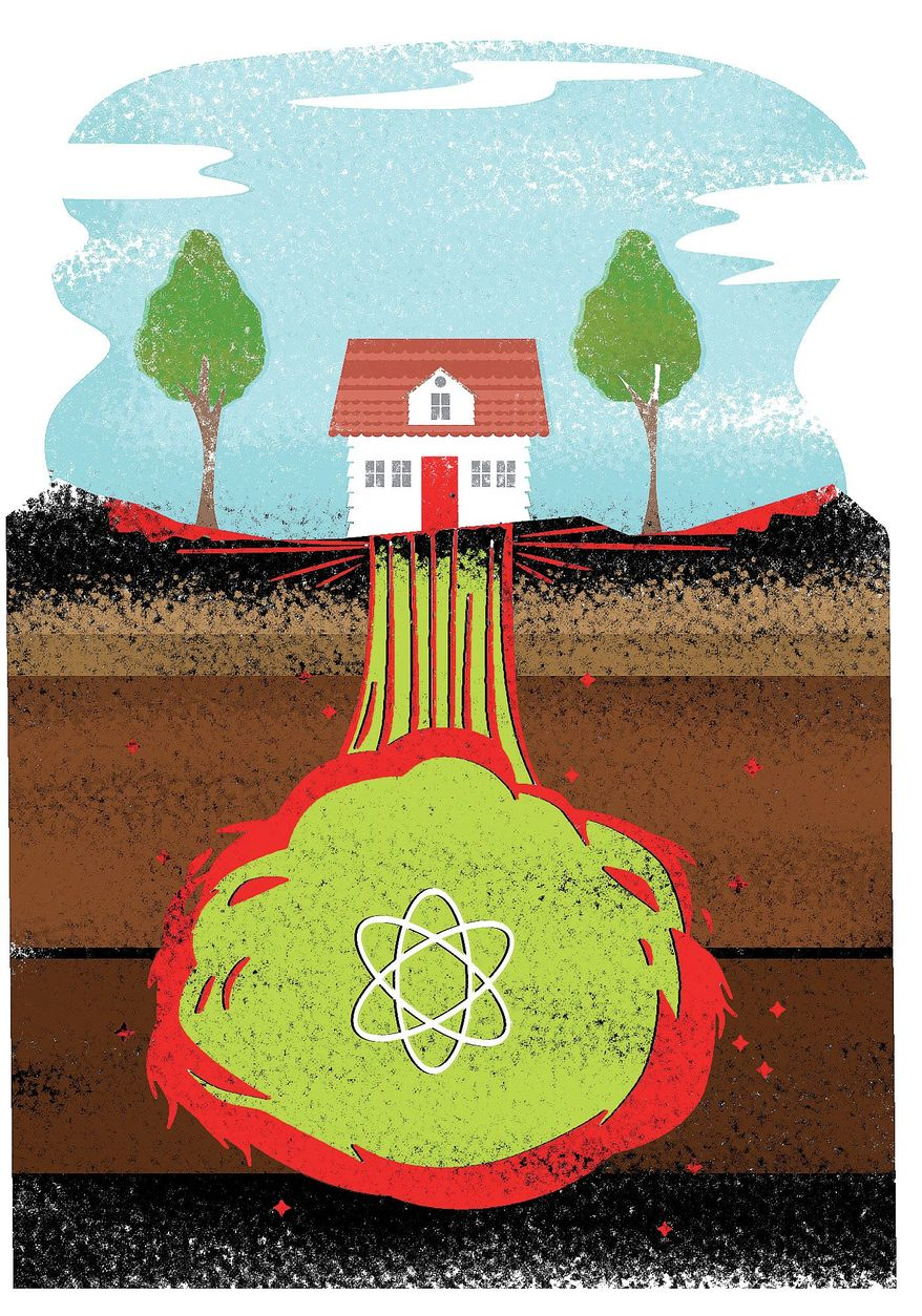 Illustration on underground nuclear testing by Linas Garsys/The Washington Times