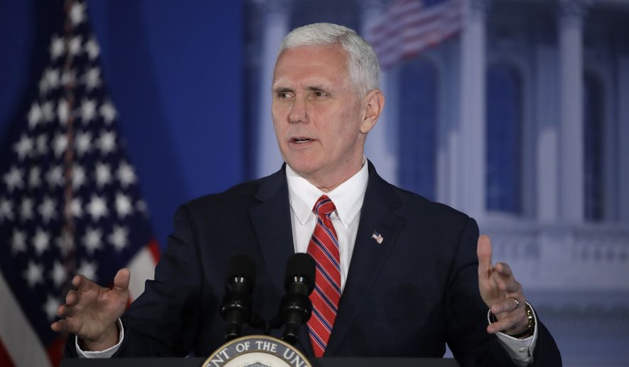Vice President Mike Pence speaks at the Republican congressional retreat in Philadelphia, Thursday, Jan. 26, 2017. (AP Photo/Matt Rourke)
