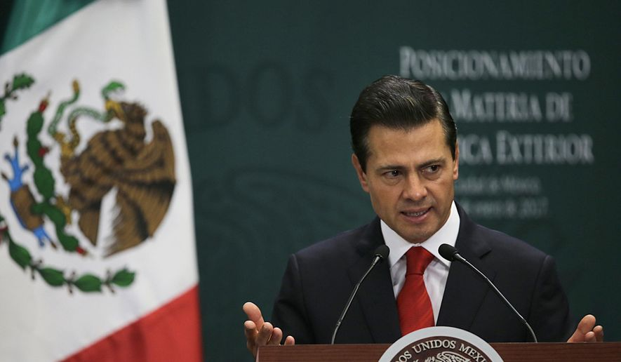 Mexico's President Enrique Pena Nieto speaks during a press conference at Los Pinos presidential residence in Mexico City, Monday, Jan. 23, 2017. (AP Photo/Marco Ugarte) ** FILE **