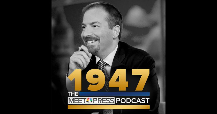 "Cover art for the ""1947"" podcast by NBC News. (iTunes) [https://itunes.apple.com/us/podcast/1947-meet-press-podcast/id1156592336?mt=2]"