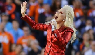 All Set Restaurant & Bar in Silver Spring, Maryland, is encouraging Super Bowl guests to don outfits inspired by Lady Gaga, who will be the halftime entertainer. (Associated Press/File)