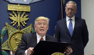 The relationship between President Trump and Defense Secretary James Mattis remains a source of intense speculation in Washington and in numerous NATO capitals. (Associated Press/File)