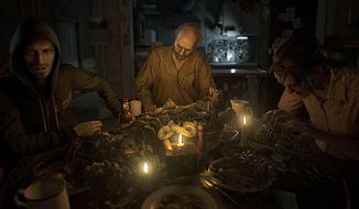 Enjoy a meal with the Baker family and then try and survive in the first person video game Resident Evil 7: Biohazard.