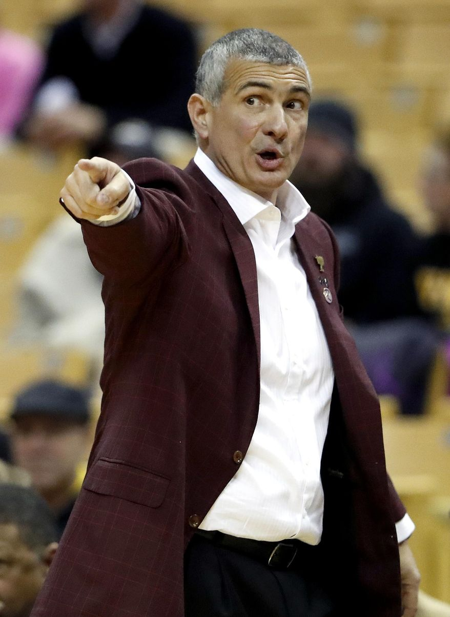 South Carolina head coach Frank Martin points on the sideline during the second half of an NCAA college basketball game against Missouri, Saturday, Jan. 28, 2017, in Columbia, Mo. (AP Photo/Jeff Roberson)