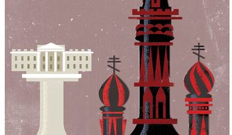 Illustration on U.S. Russian relations by Linas Garsys/The Washington Times