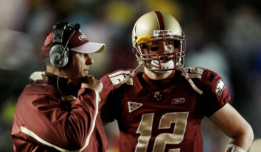 Current Atlanta Falcons quarterback Matt Ryan was a star at Boston College and prepares to face the New England Patriots in the Super Bowl on Sunday. (Associated Press)