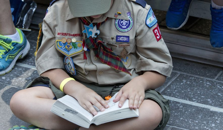 Boy Scouts of America file photo. (AP Photo/Mary Altaffer) **FILE**