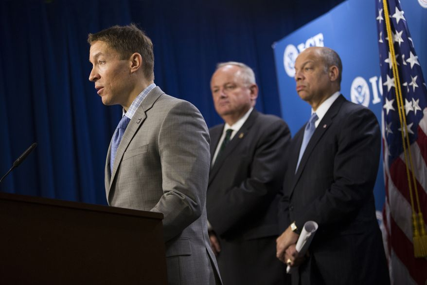Trump administration dismissed Daniel Ragsdale, left, the acting director of Immigration and Customs  Enforcement (ICE).  (AP Photo)