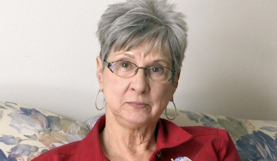 """In this image made from a video, Barbara Van Syckel is interviewed in Sterling Heights, Mich., Monday, Jan. 30, 2017. Many Trump voters across the U.S. say they are pleased with his executive order temporarily banning refugees and immigrants from seven mostly Muslim countries. Van Syckel said Trump is """"going to do what he says and says what he does."""" The 66-year-old says """"that's a little frightening for some people."""" (AP Photo/Mike Householder)"""