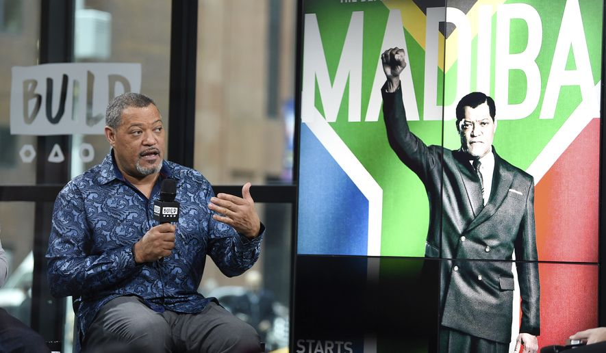 """Actor Laurence Fishburne participates in the BUILD Speaker Series to discuss the television miniseries, """"Madiba"""", at AOL Studios on Thursday, Jan. 26, 2017, in New York. (Photo by Evan Agostini/Invision/AP)"""