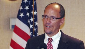Tom Perez speaks in Birmingham, Ala., in this Aug. 21, 2012, file photo. (AP Photo/Jay Reeves, File)