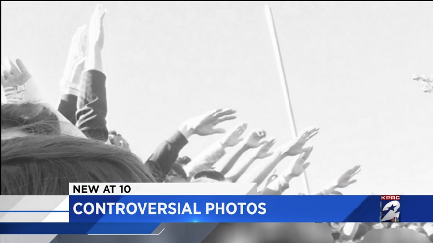 Students from Cypress Ranch High School are shown making the Nazi salute in this screen capture from a KPRC-TV report about the incident. (KPRC/Click2Houston.com) [http://www.click2houston.com/news/cypress-ranch-high-school-students-in-hot-water-after-hitler-pose-in-senior-pictures]