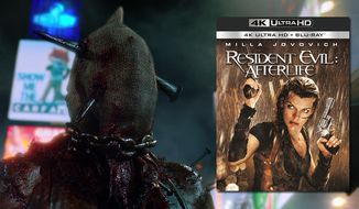 "The Axeman cometh in ""Resident Evil: Afterlife,"" now available on 4K Ultra HD from Sony Pictures Home Entertainment."