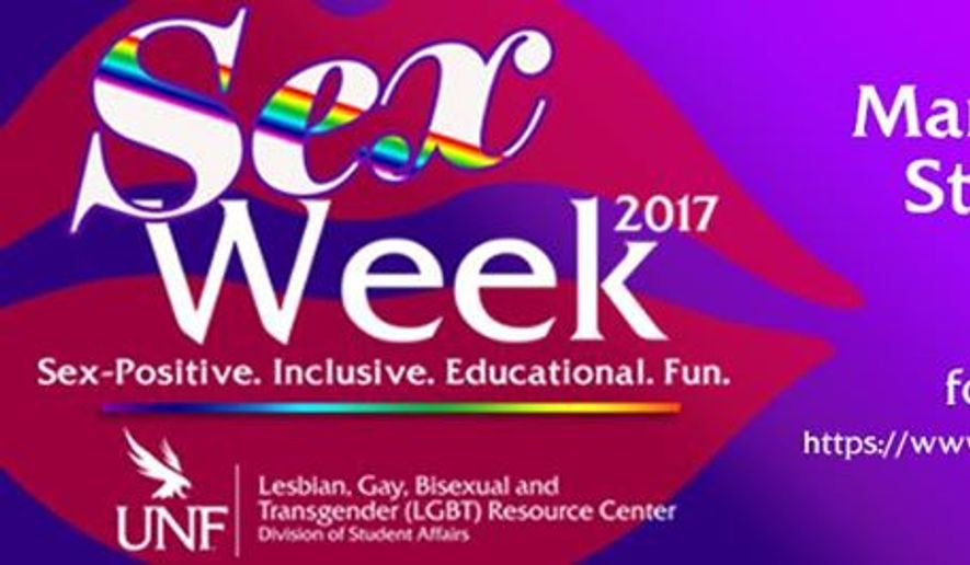 A promotional image for the University of North Florida's 2017 Sex Week in early March. (UNF image via Evensi.us)