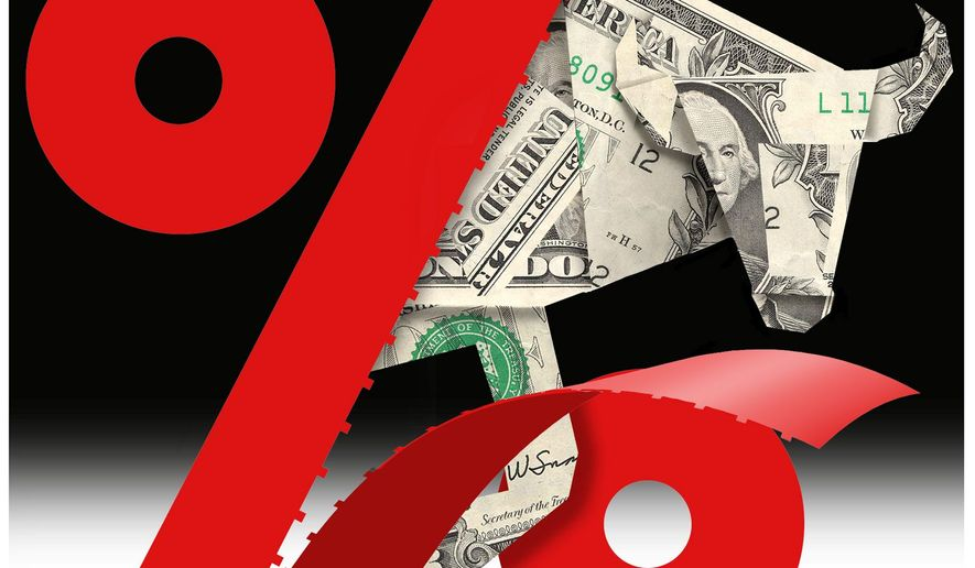 Illustration on the impact of tax reduction on markets by Alexander Hunter/The Washington Times
