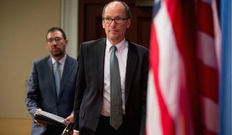 Former Labor Secretary Thomas Perez (right) is vying with other Democrats like Rep. Keith Ellison to be the next chief of the Democratic National Committee after a bruising election in which the party lost the White House as well as Congress. (Associated Press)