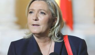 Marine Le Pen (Associated Press) ** FILE **